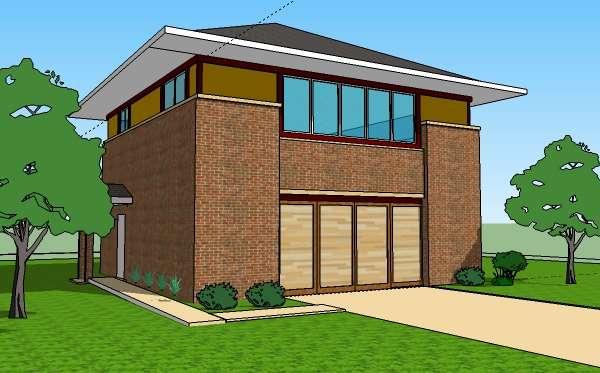 Bedroom Story Garage Plans Apartment Prairie Style