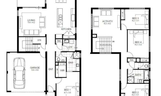 Bedroom Story House Floor Plans Unique Two