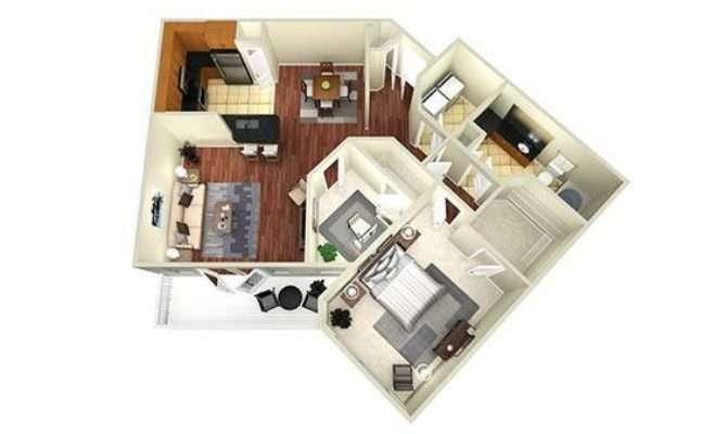 Bedroom Study Apartments Houston