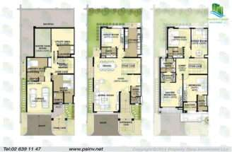 Bedroom Townhouse Area Sqft Townhouses Layout Floor Plans
