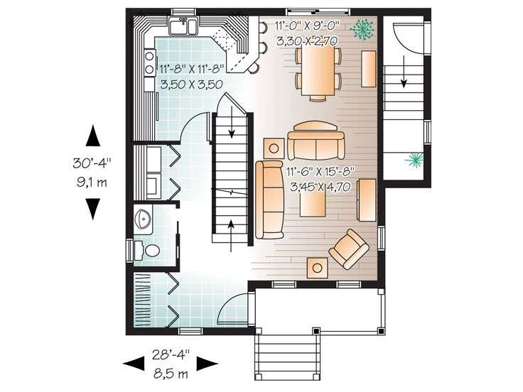 Bedroom Townhouse Floor Plans Garage Story