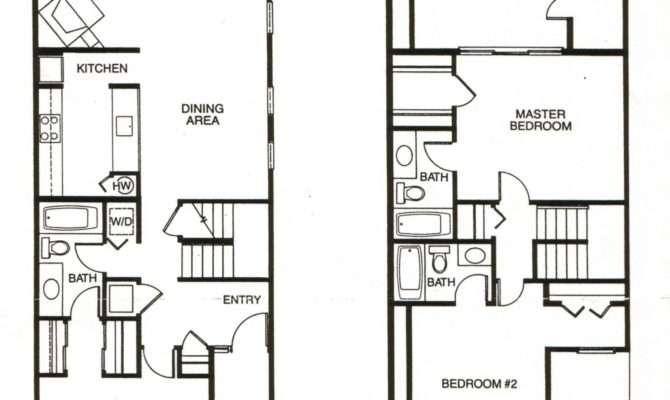 Bedroom Townhouse Floor Plans