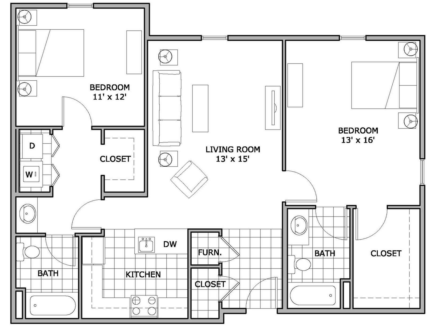 Bedroomed Apartments Floor Plans Latest Bestapartment