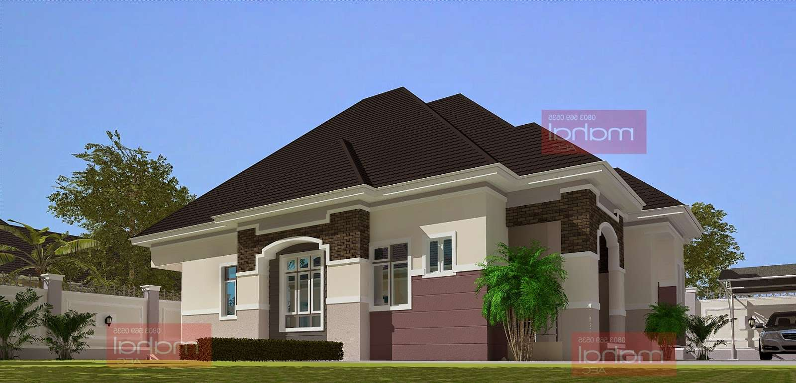Bedrooms Bungalow Floor Plans Nigeria Home Combo