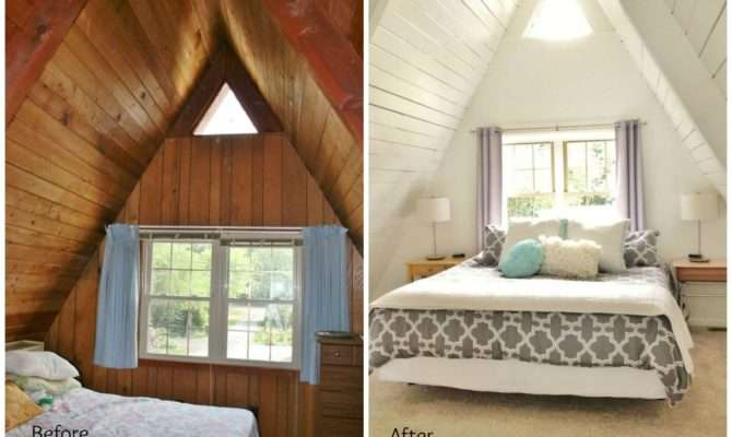 Before After Upstairs Frame Master Bedroom