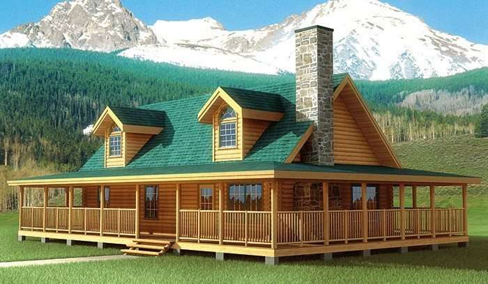 Best Log Cabin House Plans Wrap Around Porches