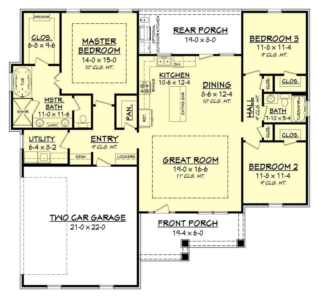 Best Modern Ranch House Floor Plans Design Ideas