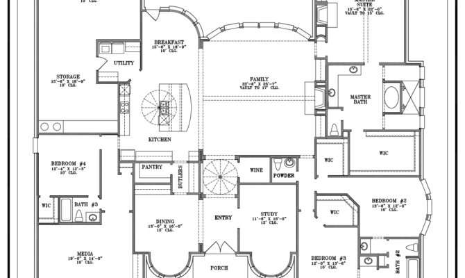 Best One Story House Plans Home Design Style