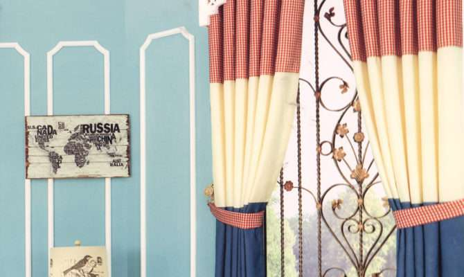 Best Plaid Curtain Panels Cotton Fabric Bay Window