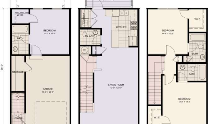 Best Simple Three Story Townhouse Plans Ideas