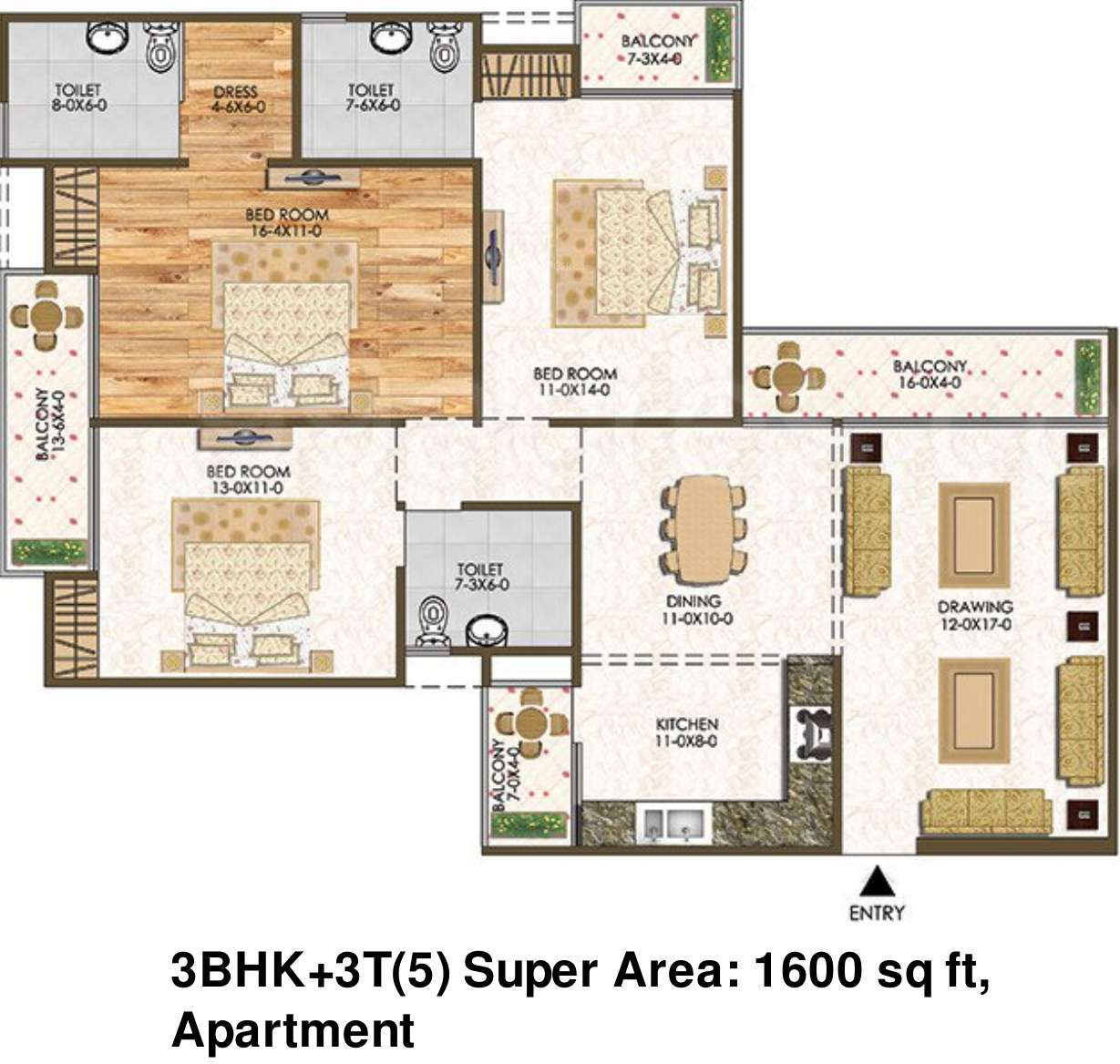 Bhk Apartment Sale Oxygreen Galaxy