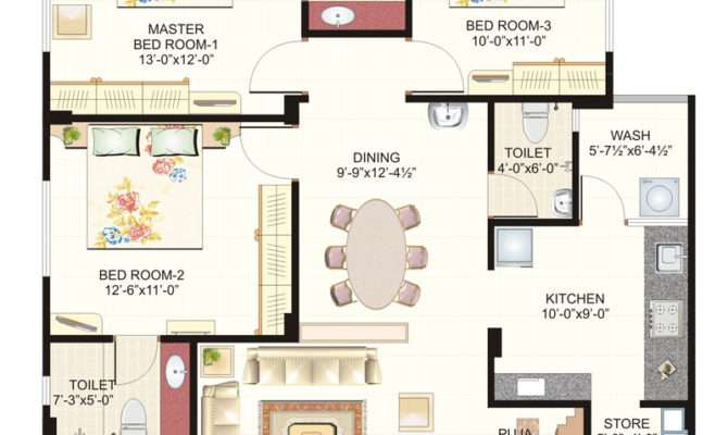 Bhk Home Plans India