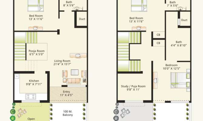 Bhk House Plans India