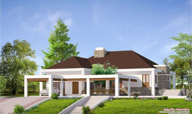 Bhk Single Storey House Spacious Rooms Elegant Kerala