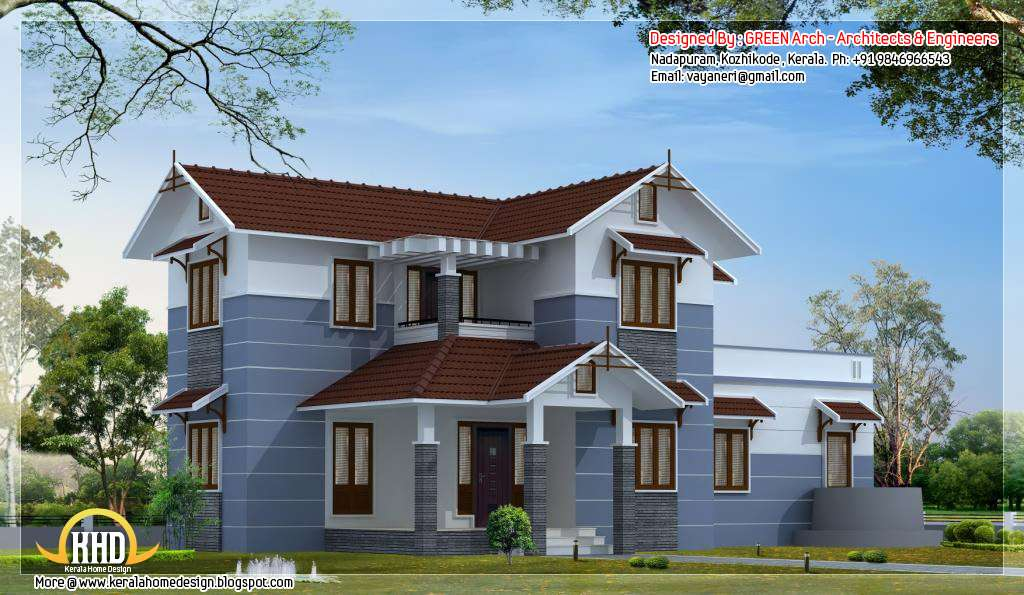 Bhk Sloping Roof Home Design Appliance