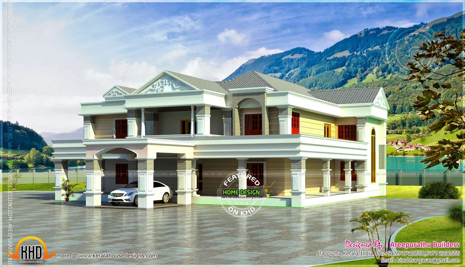 Bhk Super Luxury Home Elevation Kerala Design