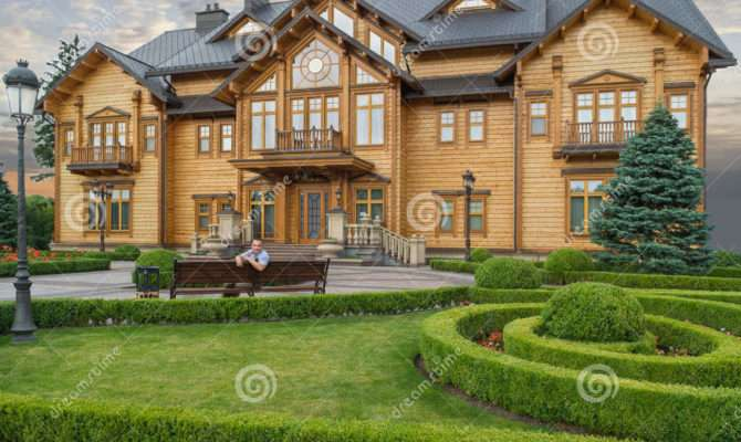 Big Beautiful Wooden House Cottage Residence Former