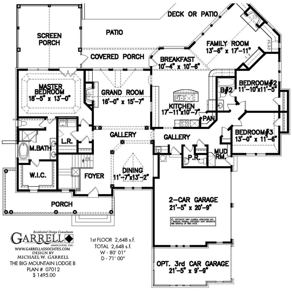 Big Mountain Lodge House Plan Plans Garrell