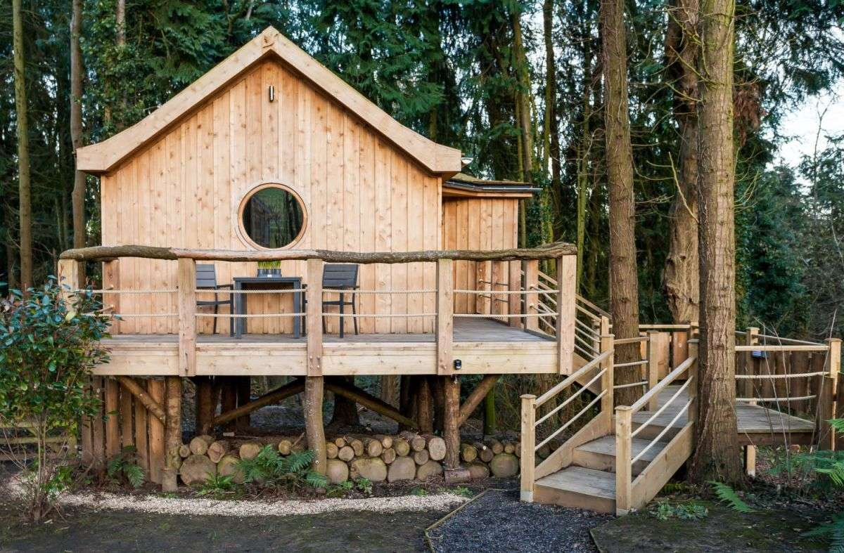 Birdhouse Treehouse Tiny Woodland Cottage Small