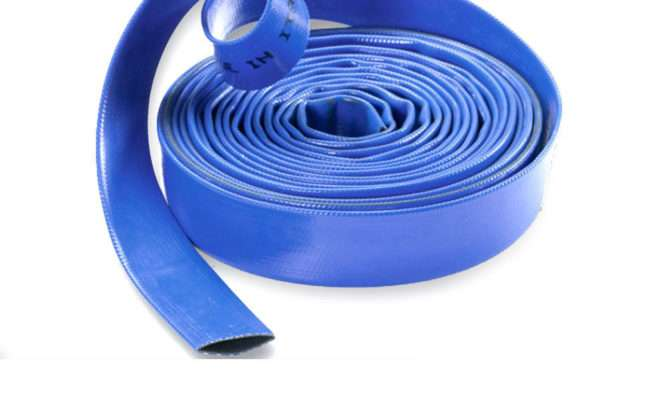 Blue Layflat Pvc Water Delivery Hose Discharge Pipe Pump