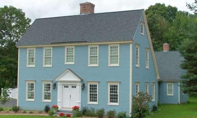 Blue Saltbox Home Design Architecture Pinterest