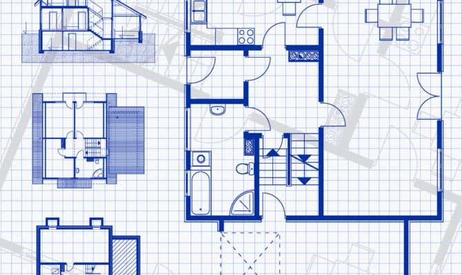 Blueprint Building Plans Homes Floor