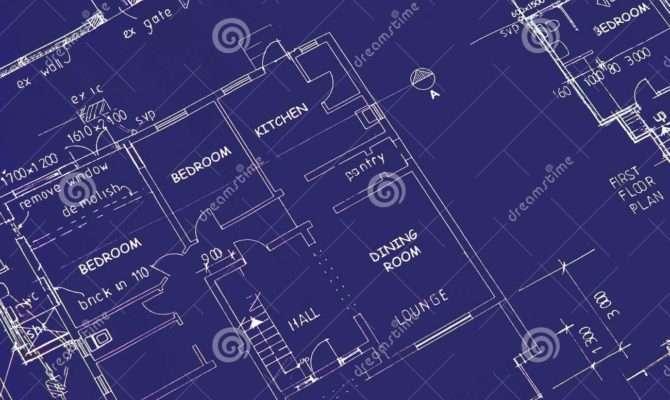 Blueprint Building Plans Photography