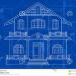 Blueprint Building Vector Architecture