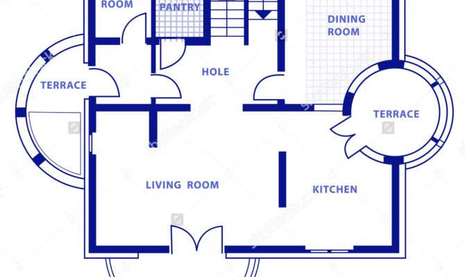 Blueprint House Home Deco Plans