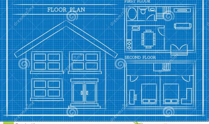 Blueprint House Plan Architecture Vector