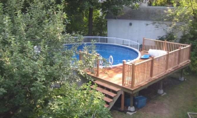Blueprints Foot Above Ground Pool Deck Plans