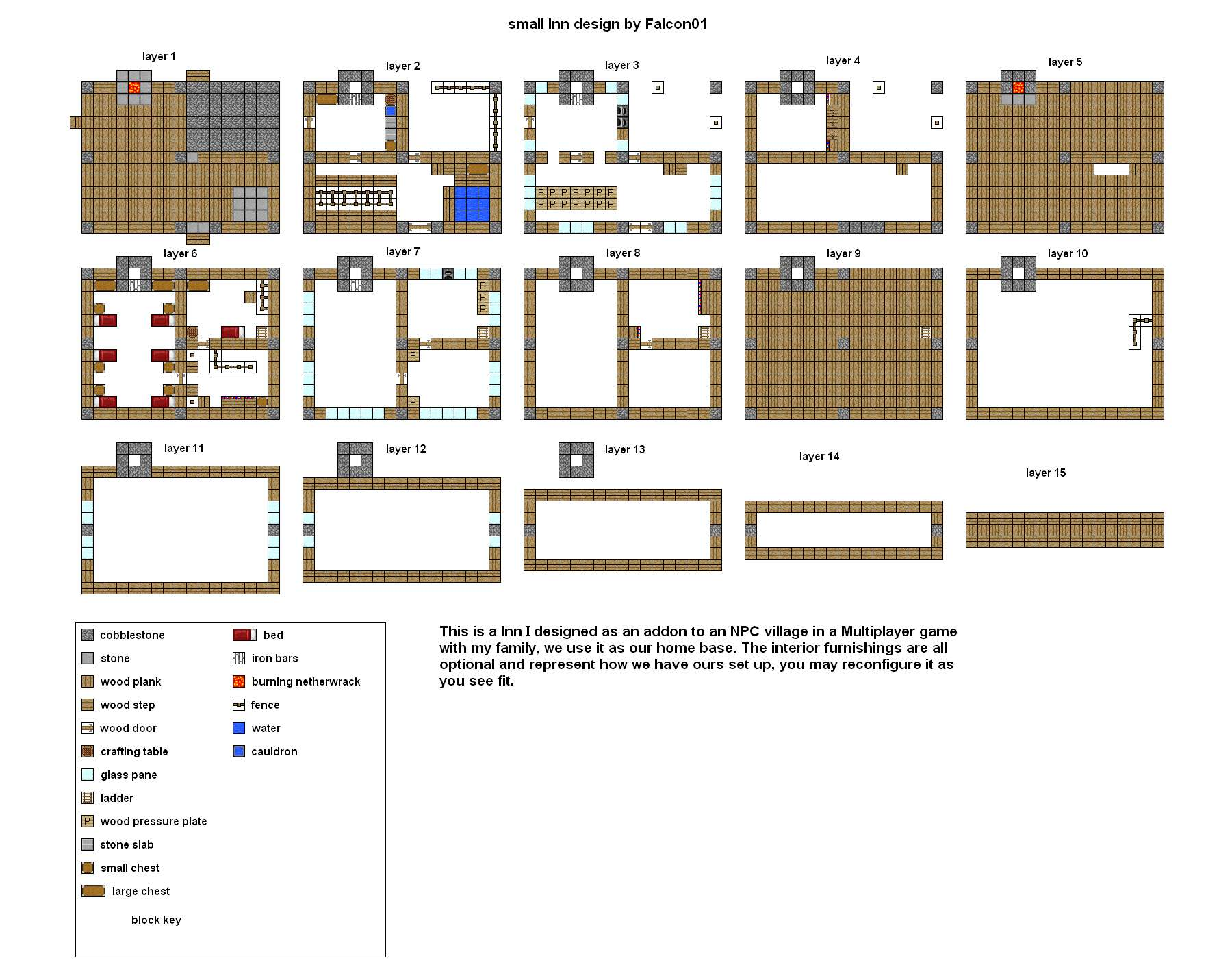 Blueprints Houses Others Minecraft House