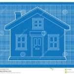 Blueprints Simple House Blue Graph Paper Format Building