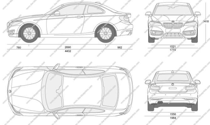 Blueprints Vector Drawing Bmw Series