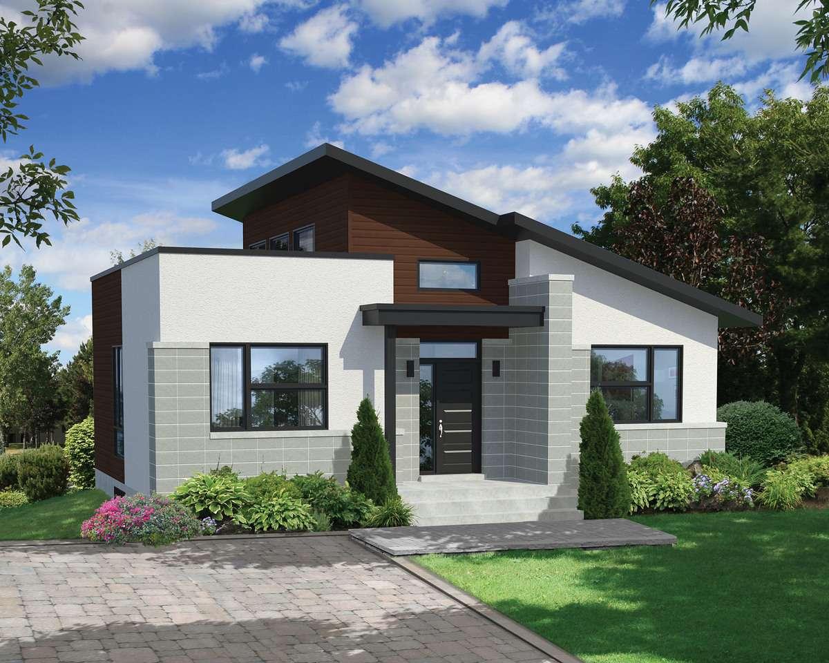 Bold Compact Modern House Plan