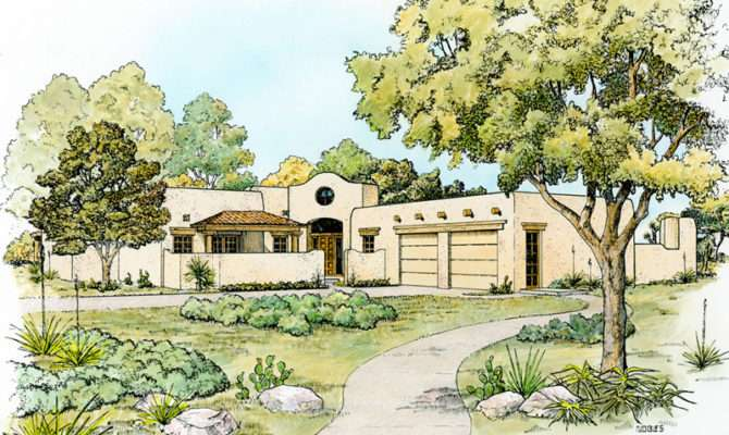 Bosswood Southwestern Style Home Plan House Plans More