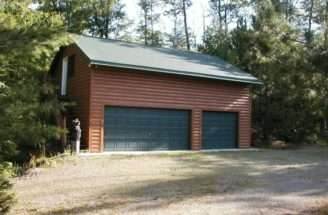 Both Pictured Garages Have Upstairs Rooms Inside