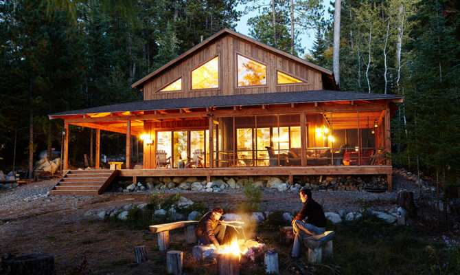 Breathtaking Mountain Cabin Decor Decorating Ideas Exterior