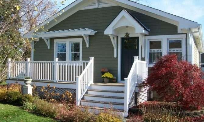 Brick Bungalow Front Porch New England Cape Cod