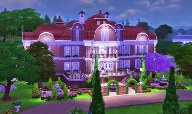 Brick Mansion Sims Houses