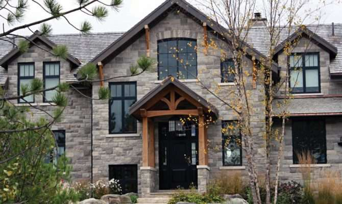 Brick Stone Veneer Siding House