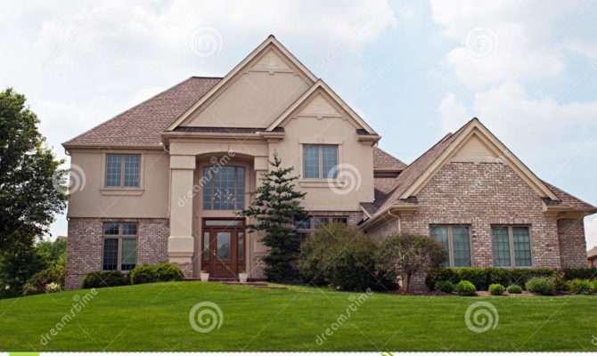 Brick Stucco Home