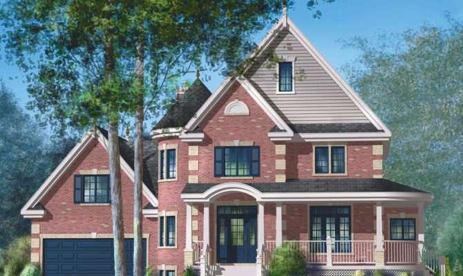 Brick Victorian House Plan Architectural