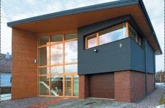 Bricks Wooden Home Design