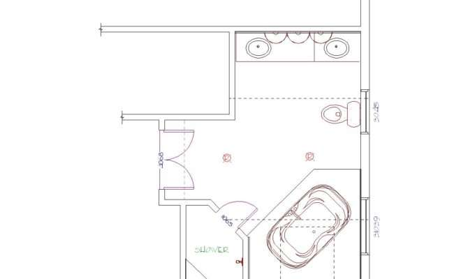 Bridge Lewisboro Westchester Master Bathroom Suite Floor Plan