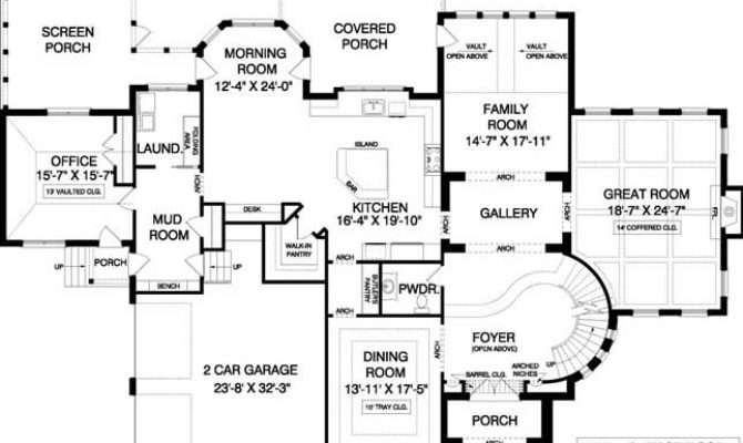 Brilliant Spiral Staircase House Plans Intended