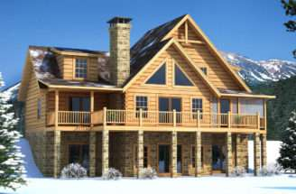 Brookestone Log Cabin Floor Plan Southland Homes