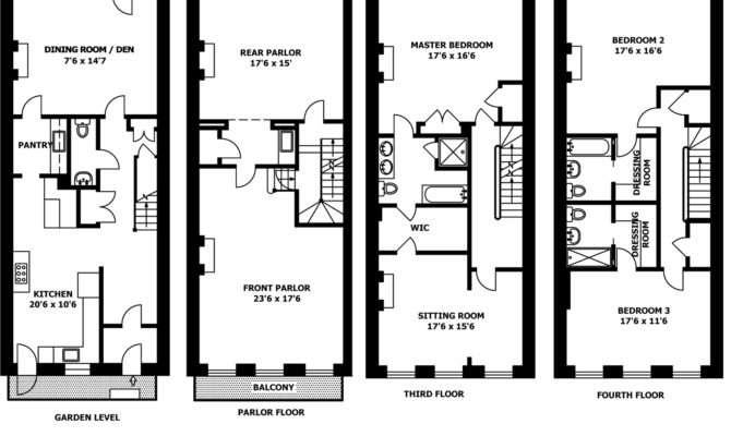 Brownstone House Plans Smalltowndjs