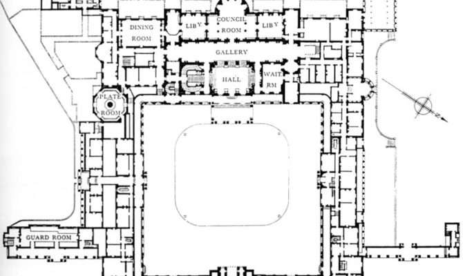 Buckingham Palace Floor Plans London England