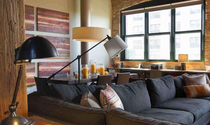 Bucktown Chicago Living Room Loft Interior Design Project